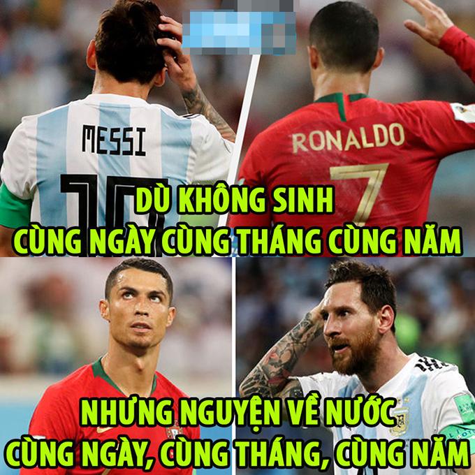 Lionel Messi và Cristiano Ronaldo đúng là anh em tốt của nhau.