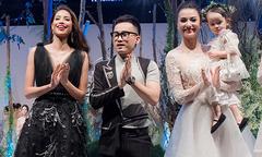 Phạm Hương, Hồng Quế và con gái làm vedette cho NTK Hà Duy