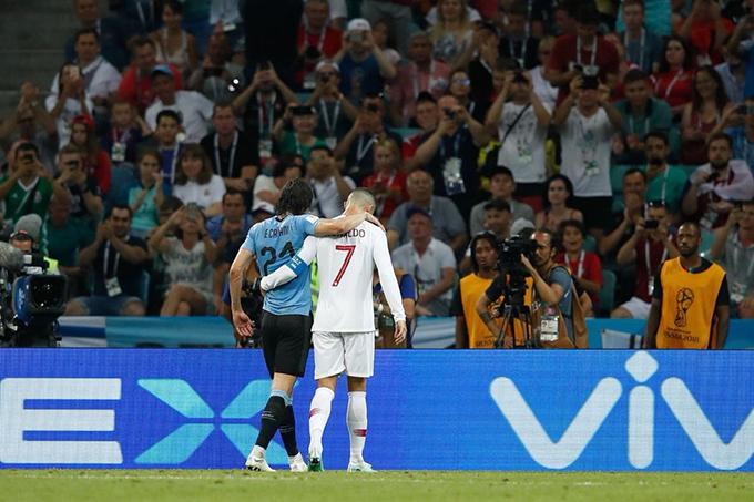 Cũng có những ý kiến cho rằng, C. Ronaldo làm việc này chỉ với mục đích đưa Cavani ra sân càng sớm càng tốt để khỏi mất thời gian vì khi đó Bồ Đào Nha đang bị dẫn với tỷ số 1-2.