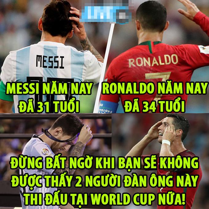 Thời gian thì không chờ đợi một ai hết.Có lẽ rất khó đểngười hâm mộlại được thấy haingười đàn ông tuyệt vời này thi đấu tại World Cup.