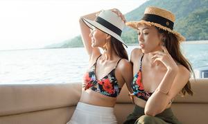 Phối đồ đi biển bắt mắt như Cao Thiên Trang, Kikki Lê