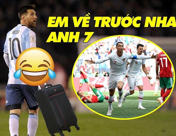 Khi Messi phải chia tay World Cup sớm trước vài tiếng, và Ronaldo ở thế nước sôi lửa bỏng không kém.