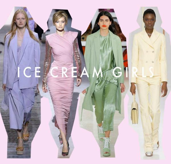 Ice cream girl là xu hướng thời trang thịnh hành cho mùa xuân hè 2018.