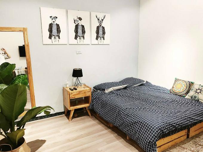 Một phòng Airbnb với giá khoảng 400.000đ tại Hà Nội. Ảnh:Airbnb.