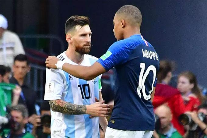 Messi bị màn trình diễn của ngôi sao trẻ Mbappe làm lu mờ. Chân sút Pháp lập cú đúp và khiến hàng thủ Argentina chao đảo.