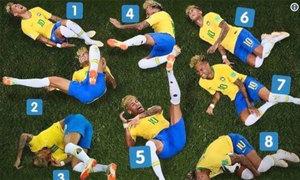 Neymar bị chế ảnh là 'thánh ăn vạ'