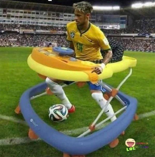 Neymar bị chế ảnh là thánh ăn vạ - 8