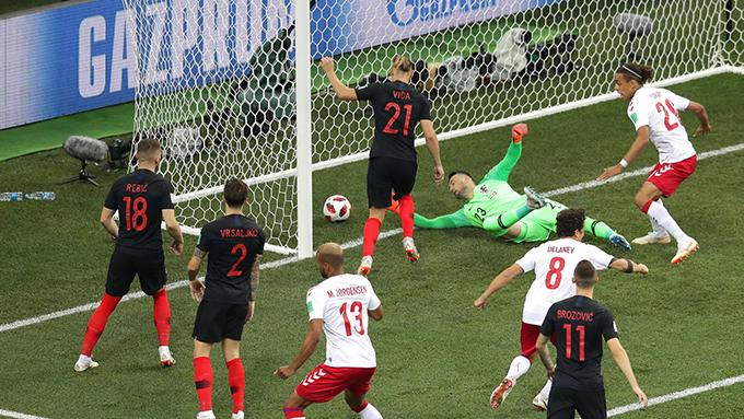 Croatia bị thủng lưới ngay ở phút đầu tiên của trận đấu. Ảnh: FIFA.