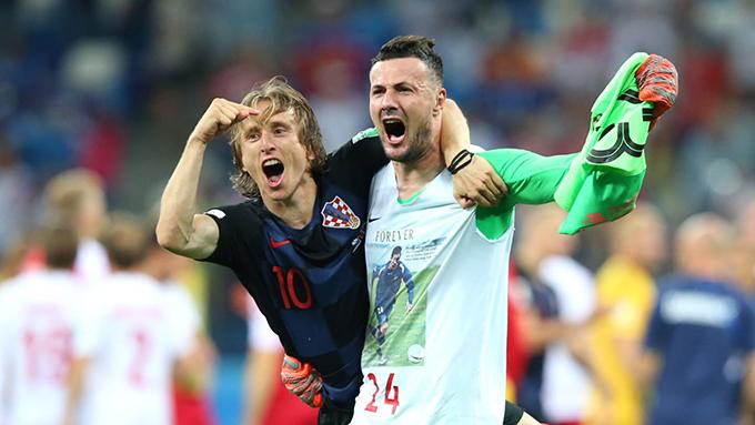 Thủ môn Subasic trở thành người hùng của Croatia với ba pha cản phá thành công trên chấm luân lưu. Ảnh: FIFA.