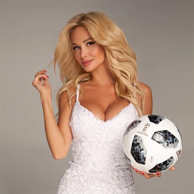 Victoria Lopyreva là Đại sứ của vòng chung kết World Cup 2018. Ảnh: Instagram.