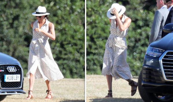 Meghan vui vẻ hết cỡ khi đi xem chồng đấu polo. Ảnh: Splash News.