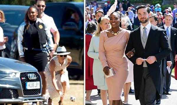 Meghan và Serena là bạn thân nhiều năm. Serena và chồng từng dự đám cưới Harry và Meghan hồi tháng 5. Ảnh: Express.