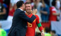 Ramos bật khóc sau thất bại trước tuyển Nga