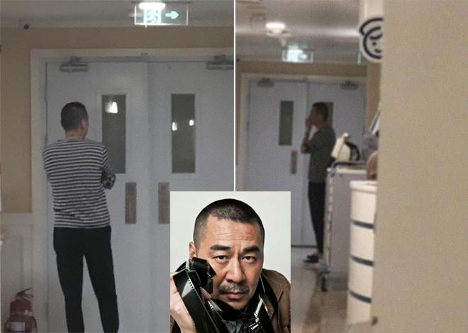 Trần Kiến Bân đứng bên ngoài phòng sinh chờ vợ vượt cạn.