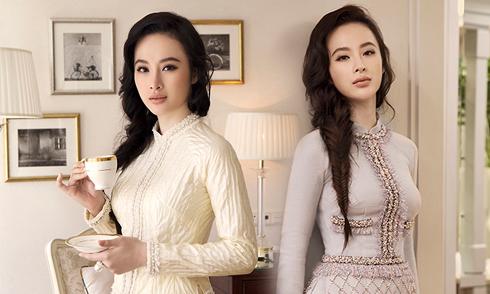 Angela Phương Trinh đài các trong áo dài Công Trí