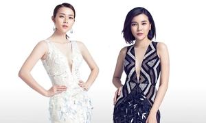 Diệp Bảo Ngọc, Cao Thái Hà diện váy xẻ cao khoe chân thon
