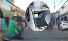 Tài xế ôtô truy đuổi kẻ đập vỡ kính xe như phim hành động