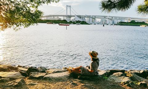 Bãi biển bình yên 'nhắm mắt thấy mùa hè' ở Tokyo