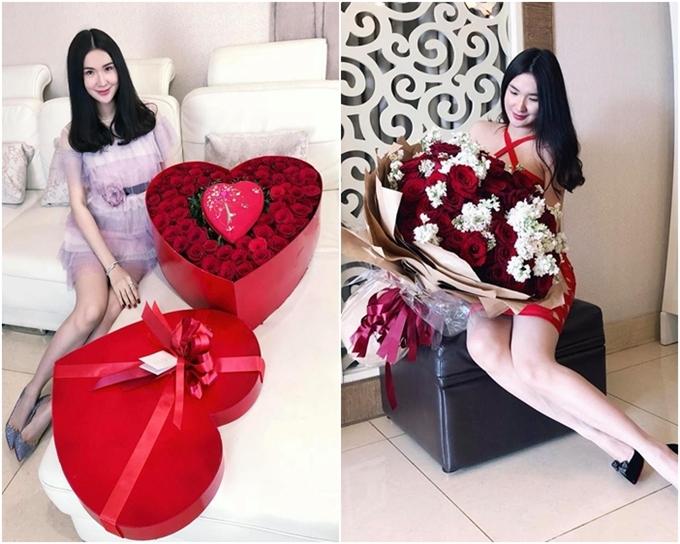 Nhân ngày Valentine và Quốc tế phụ nữ, Ngọc Loan được người yêu tặng những món quà đầy lãng mạn.
