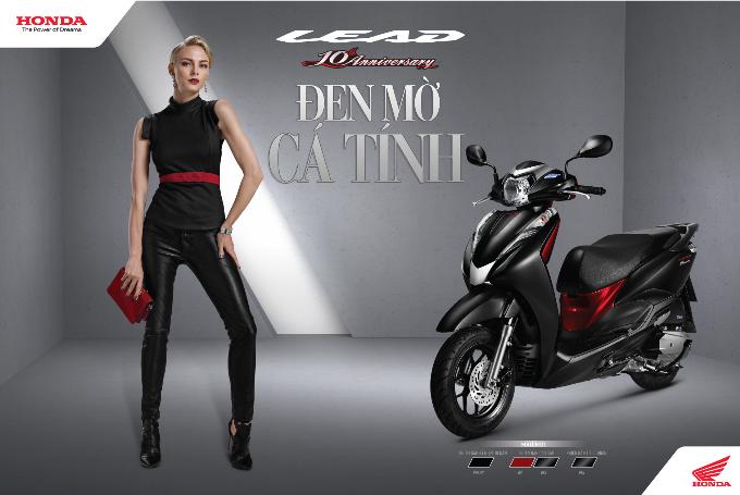 Honda Lead phiên bản đen - đỏ quyến rũ.