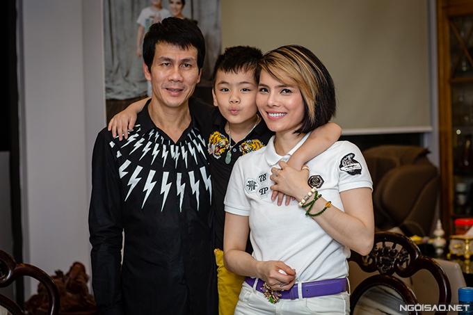 Gia đình nhỏ của diễn viên Kiều Thanh. Ảnh: Thành Đạt