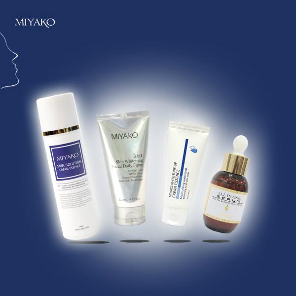 Bộ sản phẩm dưỡng da mặt Miyako chiết xuất tự nhiên.