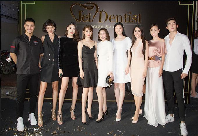 Nhiều sao Việt khác cũng góp mặt trong buổi khai trương chi nhánh phía Nam của Jet Dentist như Hoa hậu Nhân ái Mai Quỳnh, Á hậu Minh Phương, người mẫu Minh Trung, Lê Hà The Face, Kim Chi The Face...
