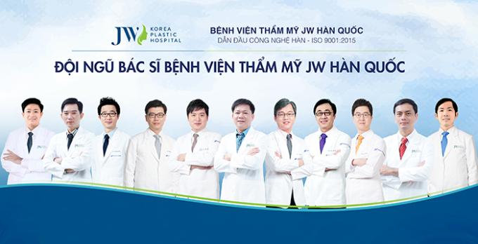 Đội ngũ các bác sĩ chuyên khoa tại JW.