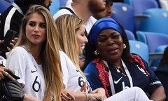 Bạn gái Pogba ngồi gần 'mẹ chồng' cổ vũ tuyển Pháp
