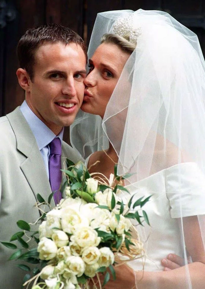 Gareth and wife Alison (pictured on their wedding day) bought the home in 2006