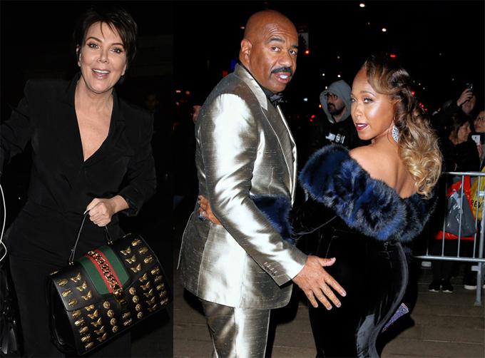 Steve Harvey bị đồn để mắt tới bà Kris Jenner khiến vợ tức giận.