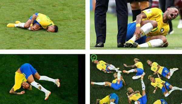 Tổng kết World Cup 2018 của Neymar, tài khoản Twitter Andy Owuor chế giễu Neymar.