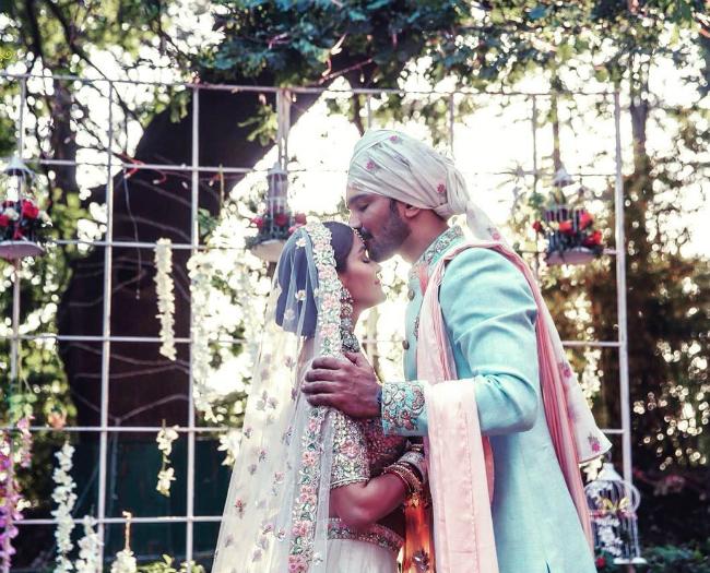 Rubina Dilaik trong đám cưới