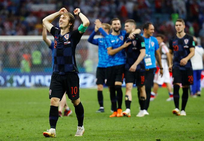 Modric và các đồng đội lập kỳ tích lọt vào bán kết sau 20 năm. Ảnh: Reuters.