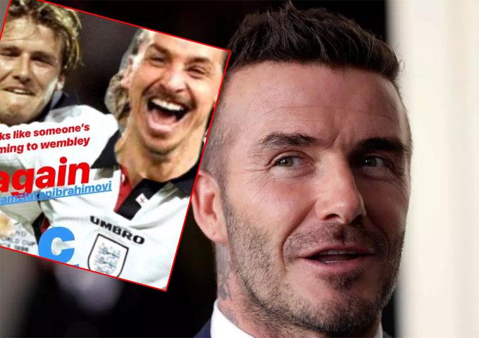 Becks bắt Ibrahimovic mặc áo tuyển Anh sau vụ thua độ