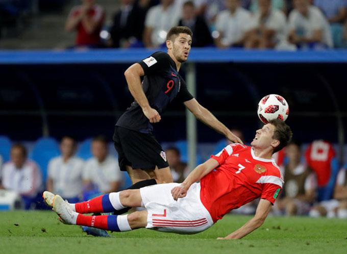 Trận đấu diễn ra kịch tính suốt 120 phút và loạt đá penalty. Ảnh: AP.