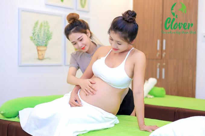 Nhờ dịch vụ chăm sóc bầu, những tháng cuối thai kỳ Nguyệt Ánh không đau nhức như trước.