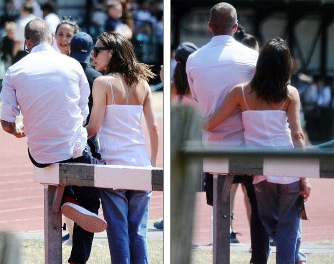 Hàng loạt tin đồn ly hôn xuất hiện nhưng cặp đôi phủ nhận bằng những hình ảnh tình cảm bên nhau.