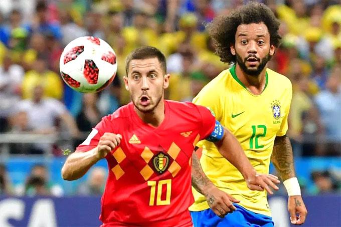 Hazard chơi xuất sắc trong trận thắng Brazil. Ảnh: NN.