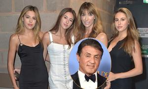 Ba con gái của tài tử Sylvester Stallone khoe sắc bên mẹ
