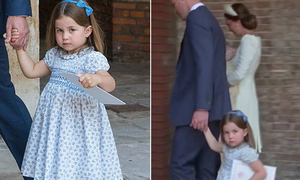Charlotte nghiêm mặt nhắc nhở phóng viên ở lễ rửa tội em trai