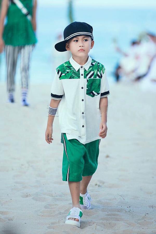 Xuất hiện tại Vietnam Junior Fashion Week 2018, Trần Minh Lâm gây ấn tượng bởi gương mặt đậm chất cá tính, chuyên nghiệp của một người mẫu nhí.