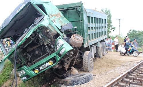 Chiếc xe trong vụ tai nạn.