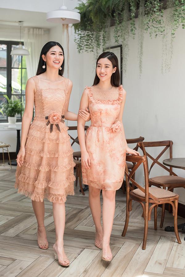 Đỗ Mỹ Linh, Thanh Tú khoe sắc cùng váy ren - 4