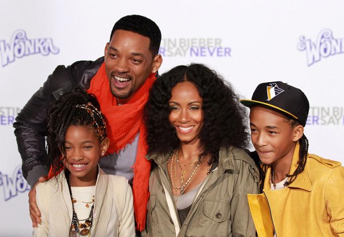 Gia đình hạnh phúc của vợ chồng Will Smith.