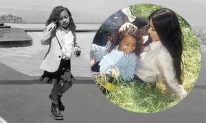 Con gái 5 tuổi của Kim Kardashian trở thành mẫu nhí cá tính