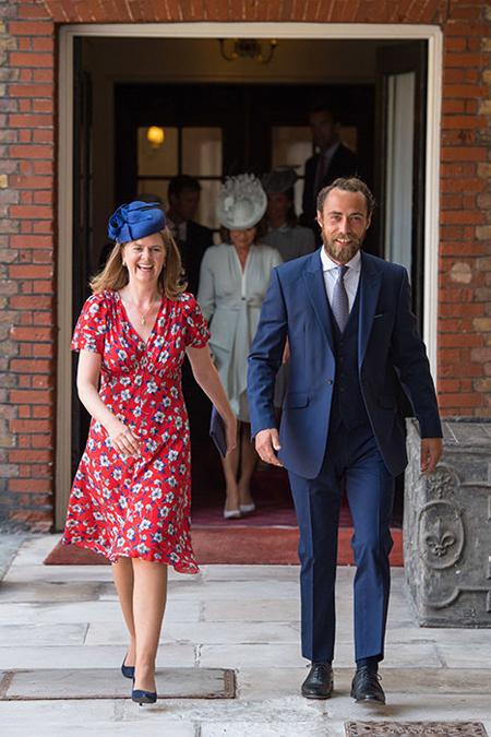 Em trai của Kate, James Middleton cũng tới dự sự kiện quan trọng này của cháu trai.