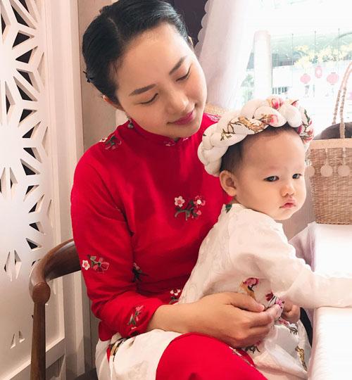 Phan Như Thảo và con gái Bồ Câu.