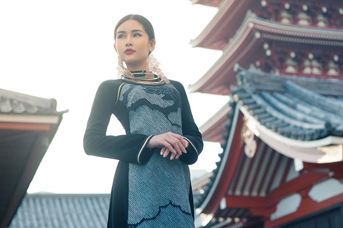 Lê Âu Ngân diện áo dài cách tân khoe dáng tại Nhật Bản - 6