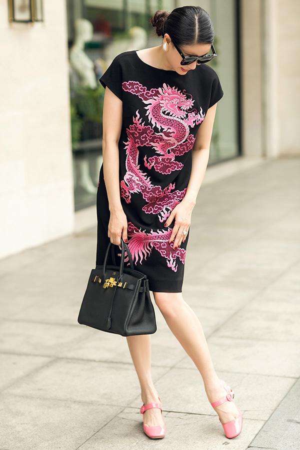 Hà Kiều Anh phối túi hiệu sang chảnh với váy Đỗ Mạnh Cường - 9